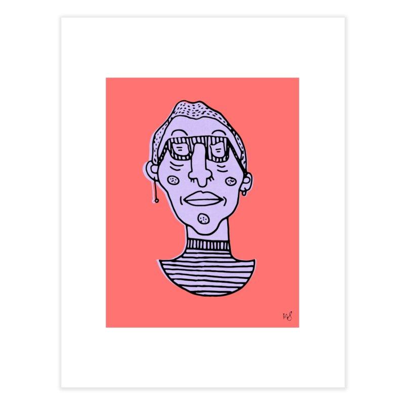 Purple Portrait Print Home Fine Art Print by Michelle Silva Artistry