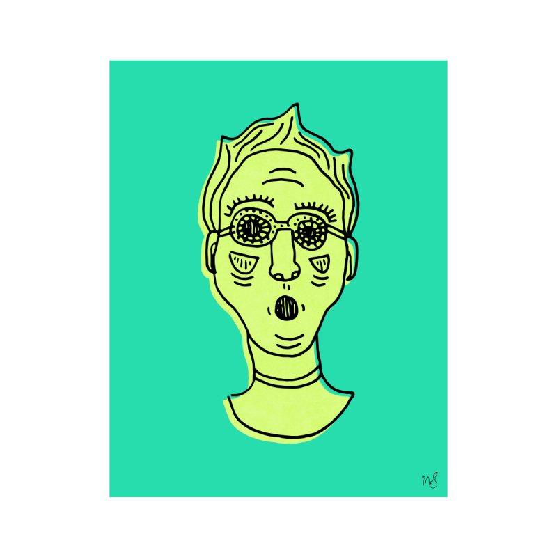 Green Portrait Print Home Fine Art Print by Michelle Silva Artistry