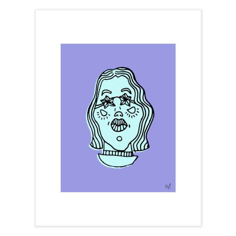 Blue Portrait Print Home Fine Art Print by Michelle Silva Artistry
