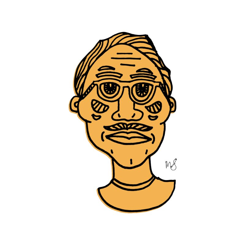 Orange Portrait Apparel Men's Longsleeve T-Shirt by Michelle Silva Artistry