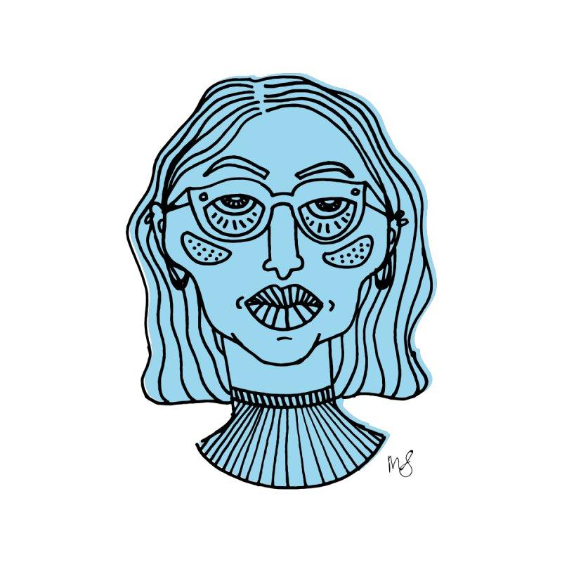 Blue Portrait II Apparel Men's T-Shirt by Michelle Silva Artistry