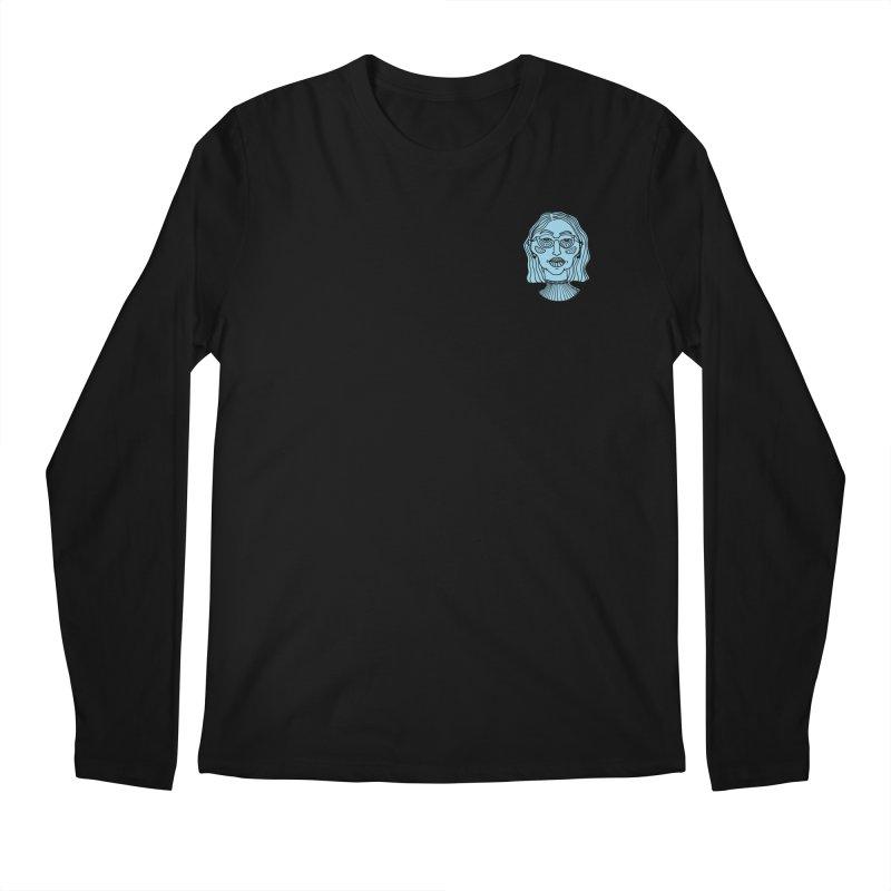 Blue Portrait II Apparel Men's Longsleeve T-Shirt by Michelle Silva Artistry