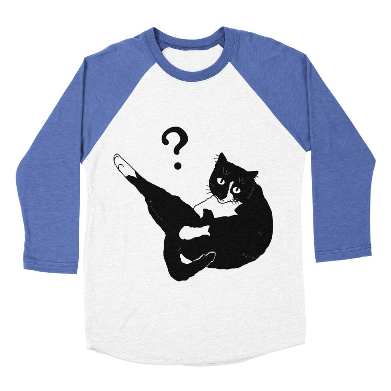 the hot cat micia Men's Baseball Triblend T-Shirt by micia's Artist Shop
