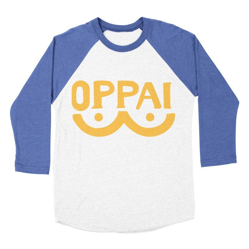 oppai Women's Baseball Triblend T-Shirt by micia's Artist Shop