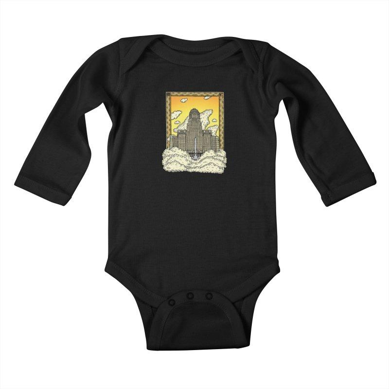 Buffalo City Hall Kids Baby Longsleeve Bodysuit by Mickey Harmon