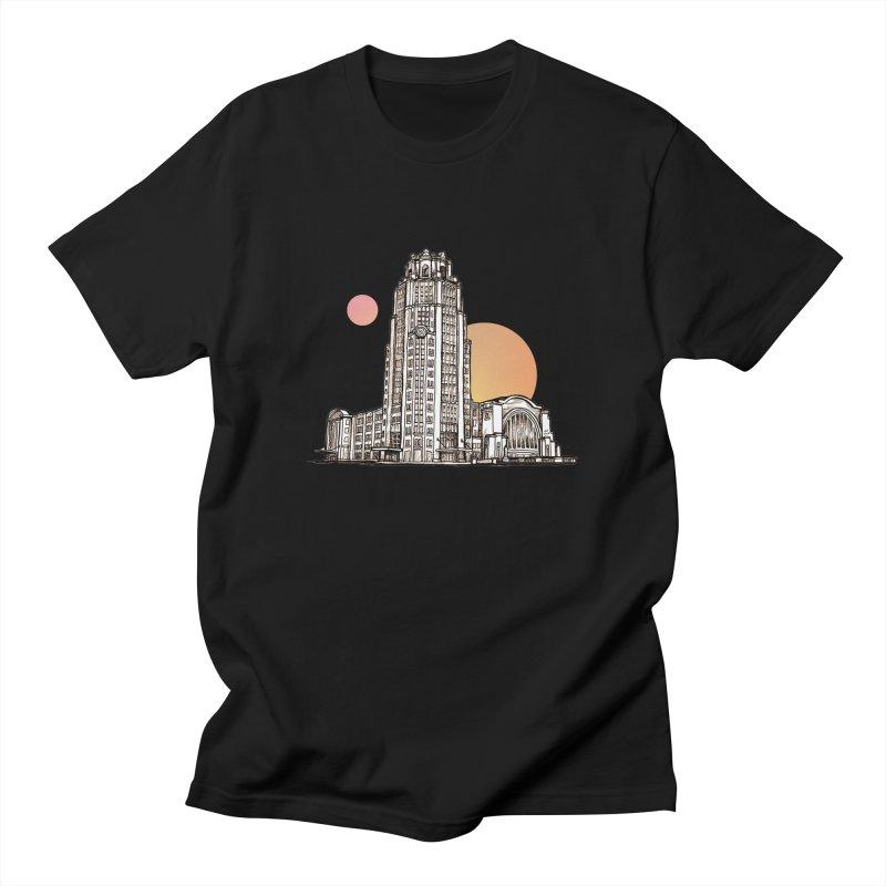 Buffalo Central Terminal Men's T-Shirt by Mickey Harmon
