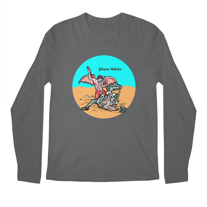 Please Advise. Men's Longsleeve T-Shirt by Mickey Harmon