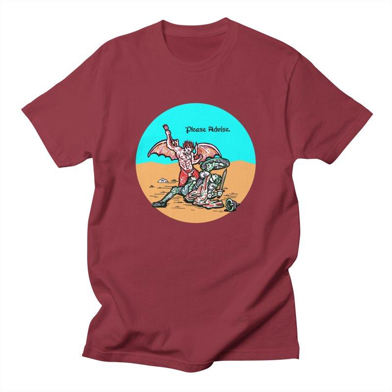 Please Advise. Men's T-Shirt by Mickey Harmon