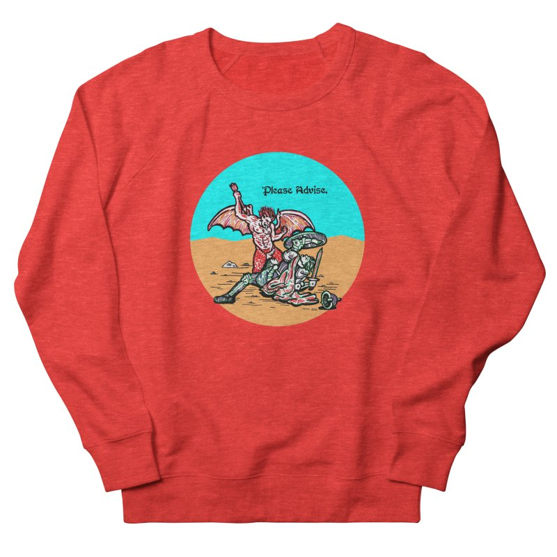 Please Advise. Men's Sweatshirt by Mickey Harmon