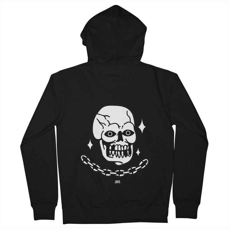 little skully Men's French Terry Zip-Up Hoody by Mico Jones Artist Shop