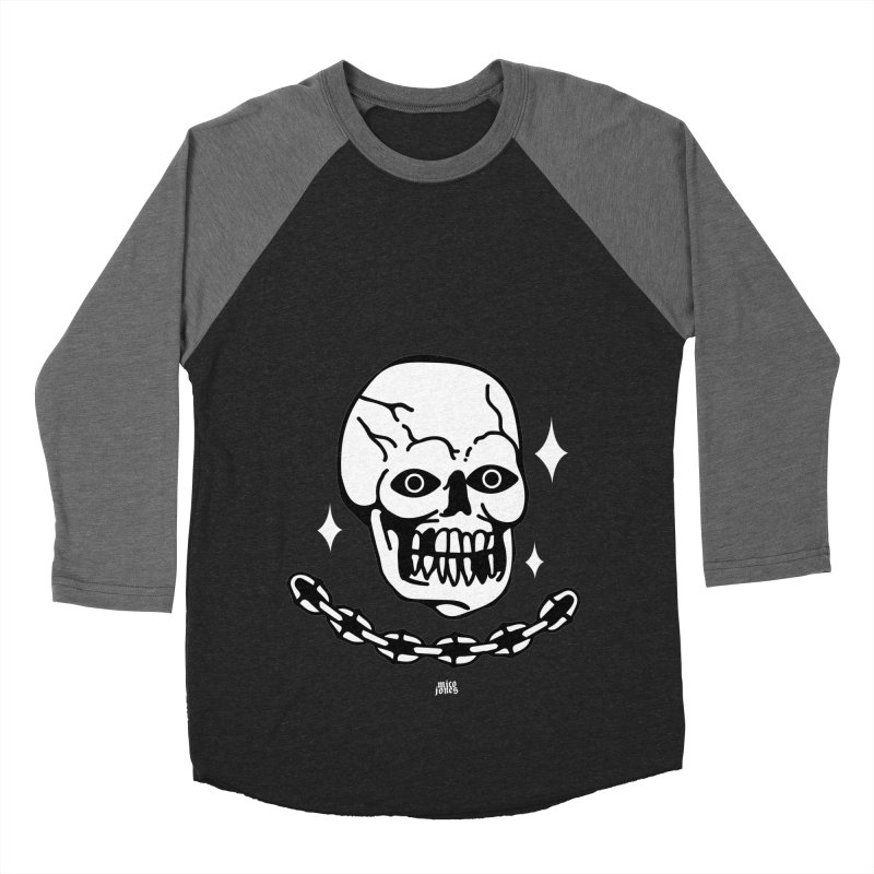 little skully Men's Baseball Triblend Longsleeve T-Shirt by Mico Jones Artist Shop