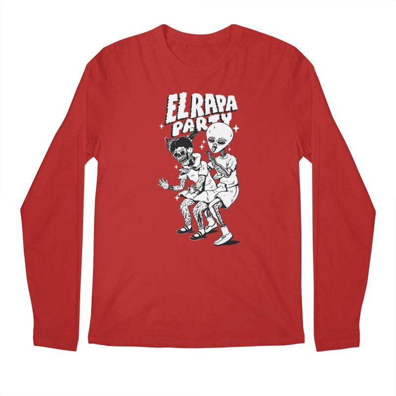 EL RAPA PARTY in Men's Longsleeve T-Shirt Red by Mico Jones Artist Shop