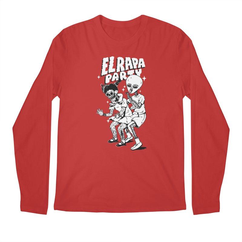 EL RAPA PARTY in Men's Regular Longsleeve T-Shirt Red by Mico Jones Artist Shop
