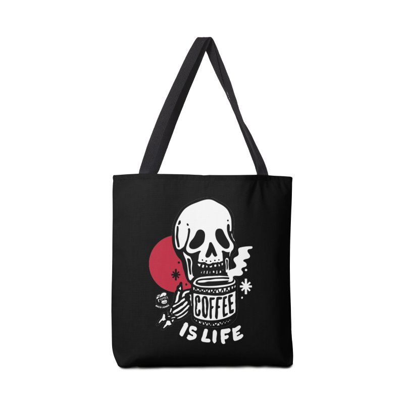 COFFEE IS LIFE BLACK Accessories Bag by Mico Jones Artist Shop