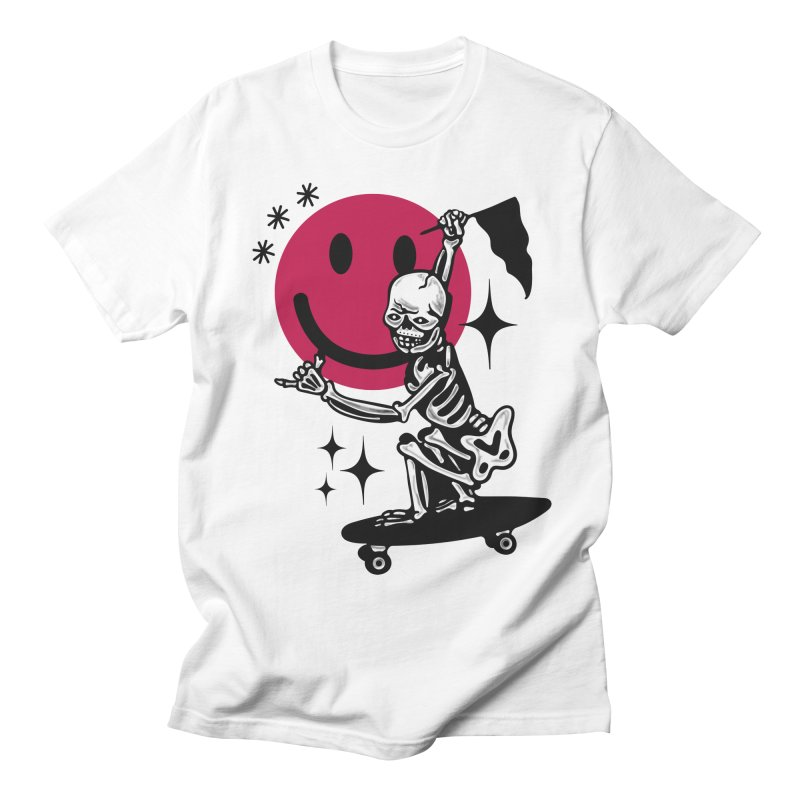 KULL SKATER in Men's T-shirt White by Mico Jones Artist Shop
