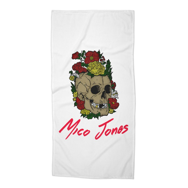 Flower skull Accessories Beach Towel by Mico Jones Artist Shop