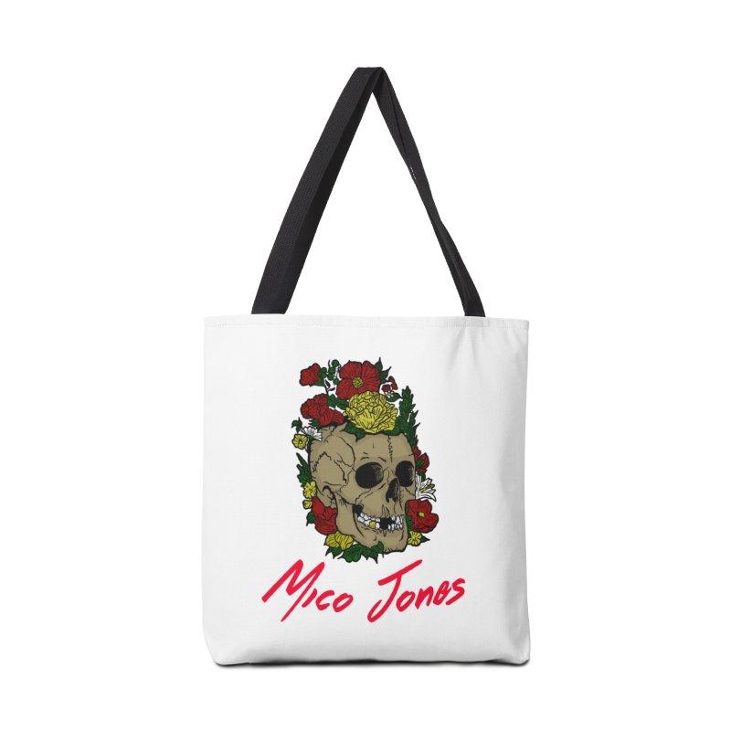 Flower skull Accessories Bag by Mico Jones Artist Shop