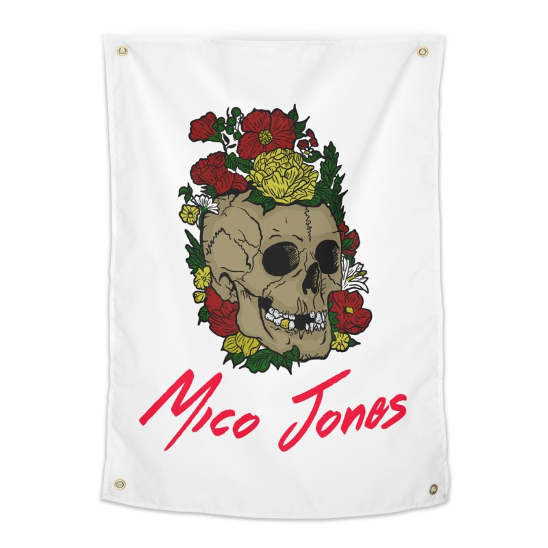 Flower skull Home Tapestry by Mico Jones Artist Shop