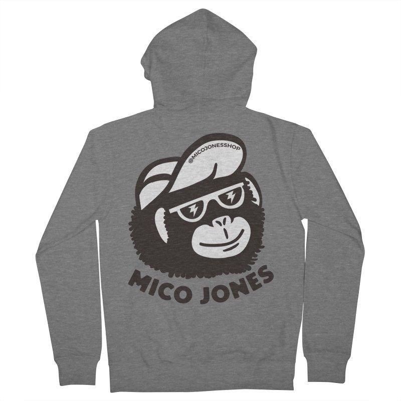 Mico Jones Mono Men's Zip-Up Hoody by Mico Jones Artist Shop