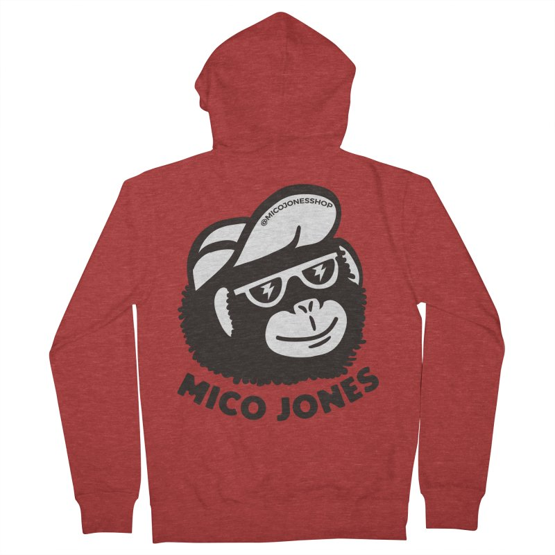 Mico Jones Mono Men's Zip-Up Hoody by Mico Jones Artist Shop