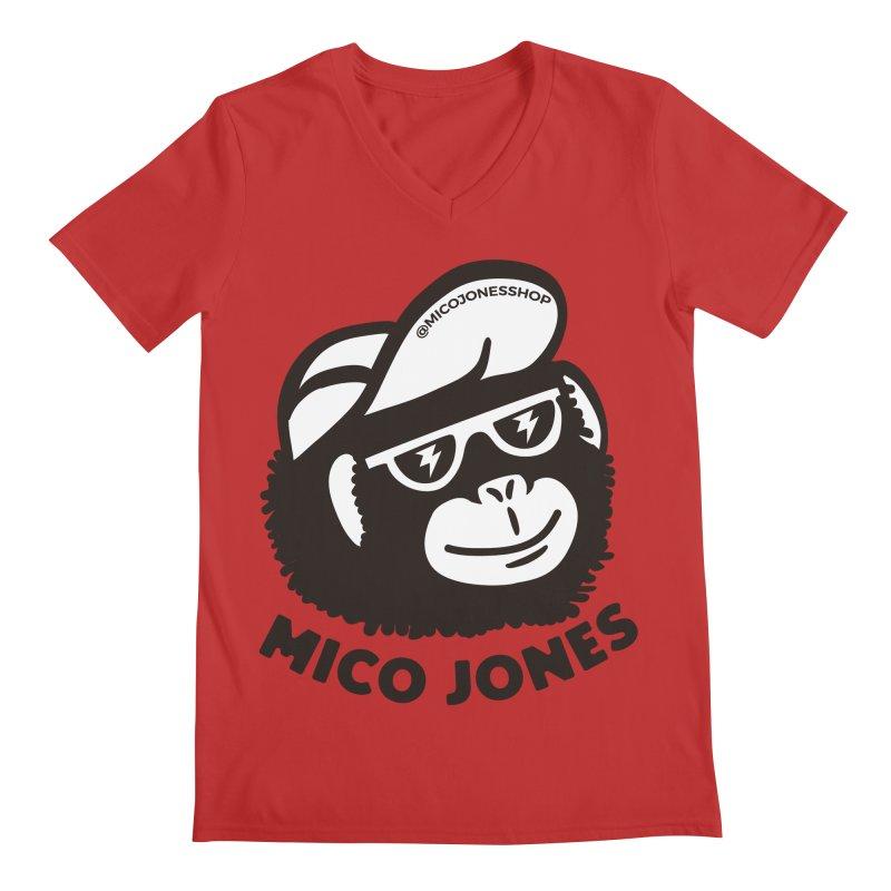 Mico Jones Mono Men's V-Neck by Mico Jones Artist Shop