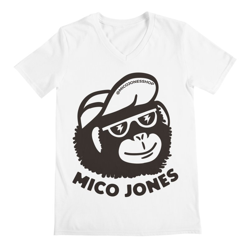 Mico Jones Mono Men's V-Neck by Mico Jones Artist Shop