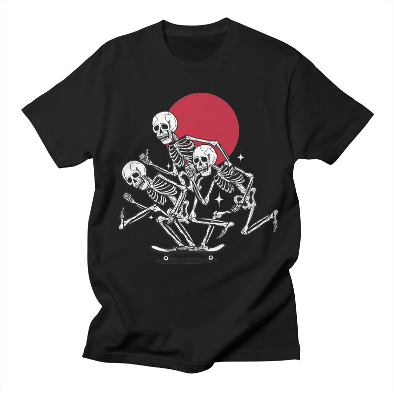 SKULL GANG BLACK in Men's T-shirt Black by Mico Jones Artist Shop