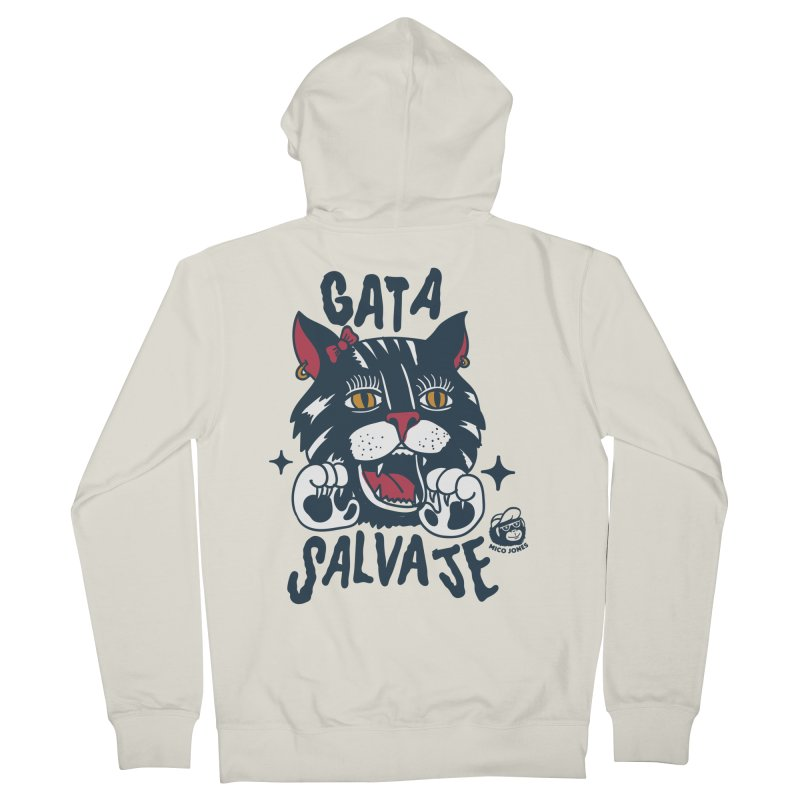 GATA SALVAJE Men's Zip-Up Hoody by Mico Jones Artist Shop