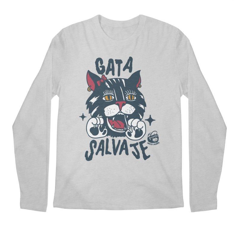 GATA SALVAJE Men's Longsleeve T-Shirt by Mico Jones Artist Shop