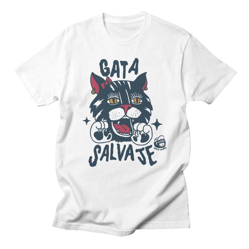 GATA SALVAJE Men's T-shirt by Mico Jones Artist Shop
