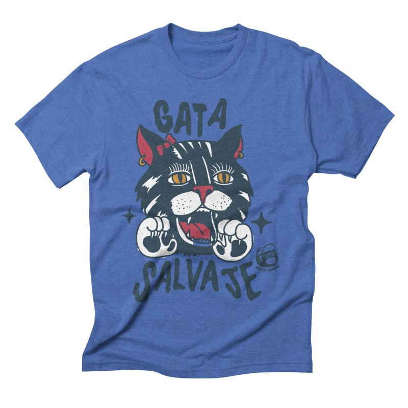 GATA SALVAJE Men's Triblend T-shirt by Mico Jones Artist Shop