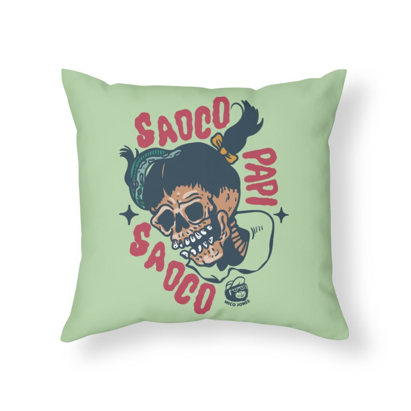 SAOCO Home Throw Pillow by Mico Jones Artist Shop