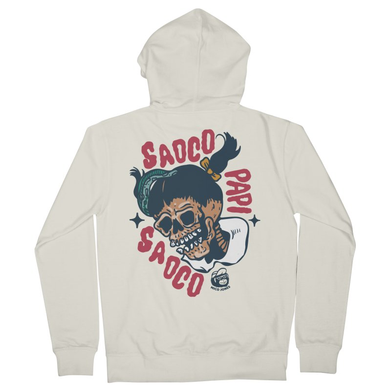 SAOCO Women's French Terry Zip-Up Hoody by Mico Jones Artist Shop