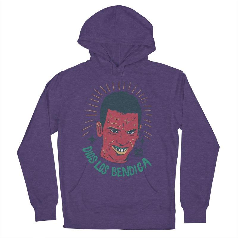DIOS LOS BENDIGA Women's Pullover Hoody by Mico Jones Artist Shop
