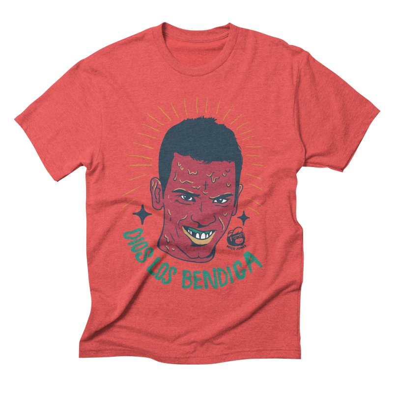 DIOS LOS BENDIGA Men's Triblend T-shirt by Mico Jones Artist Shop