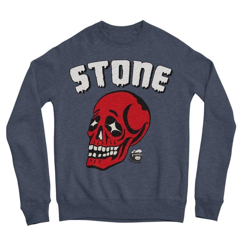 STONE SkULL Men's Sponge Fleece Sweatshirt by Mico Jones Artist Shop