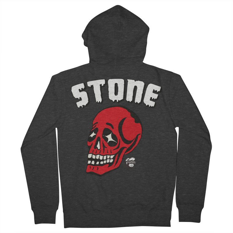 STONE SkULL Women's French Terry Zip-Up Hoody by Mico Jones Artist Shop