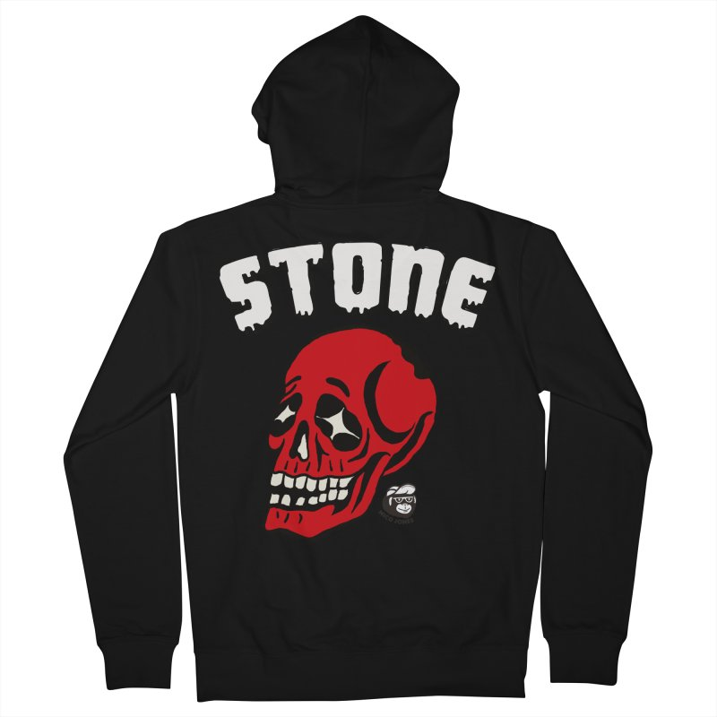 STONE SkULL Men's Zip-Up Hoody by Mico Jones Artist Shop