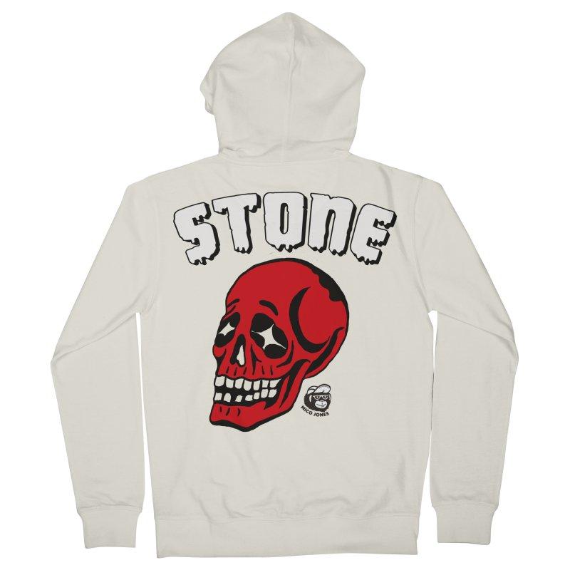 STONE SkULL Men's Zip-Up Hoody by Mico Jones Artist Shop