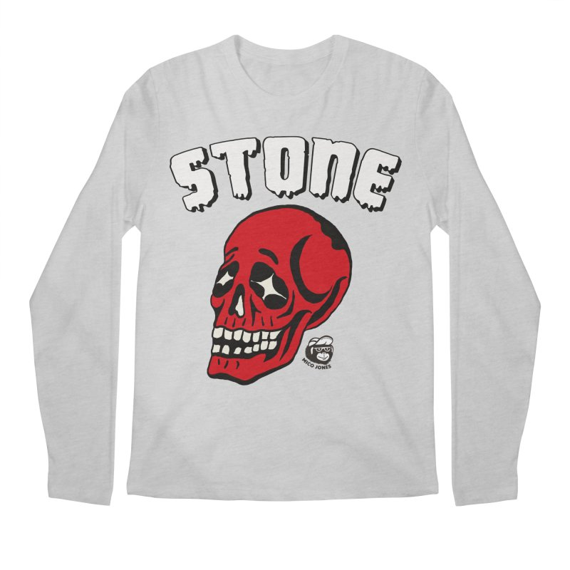 STONE SkULL Men's Longsleeve T-Shirt by Mico Jones Artist Shop