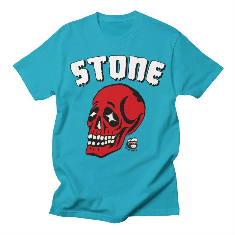 STONE SkULL Men's T-shirt by Mico Jones Artist Shop