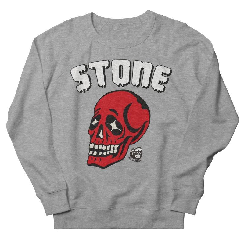 STONE SkULL Men's Sweatshirt by Mico Jones Artist Shop