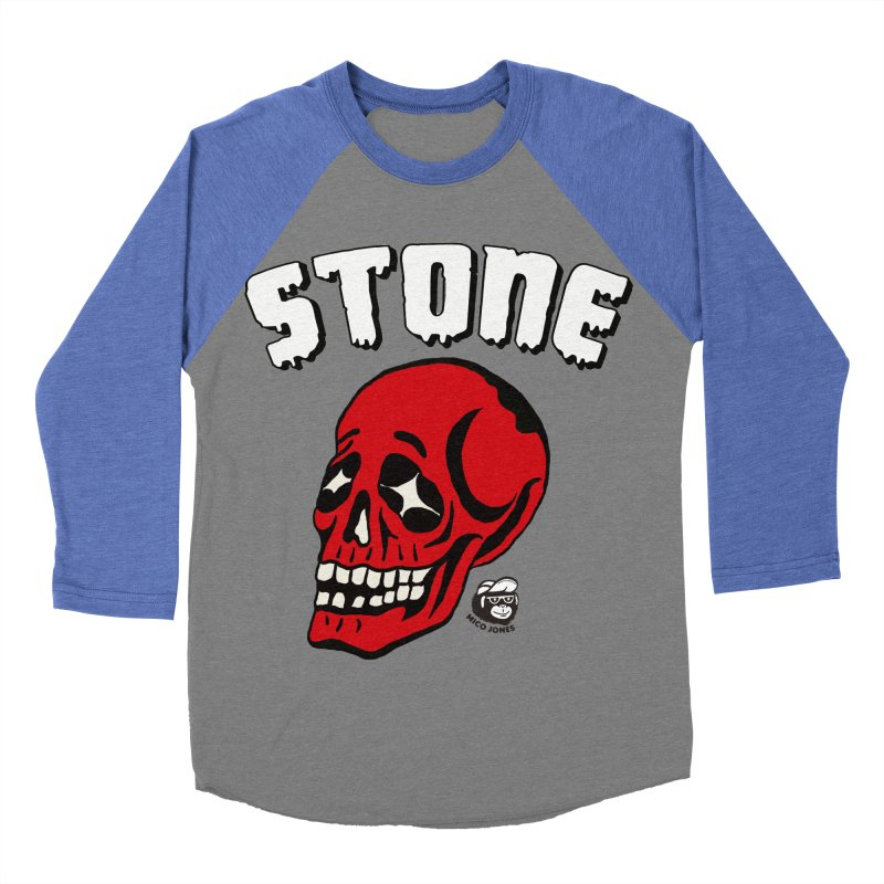STONE SkULL Women's Baseball Triblend T-Shirt by Mico Jones Artist Shop