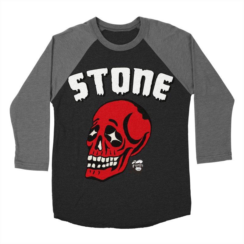 STONE SkULL Men's Baseball Triblend T-Shirt by Mico Jones Artist Shop