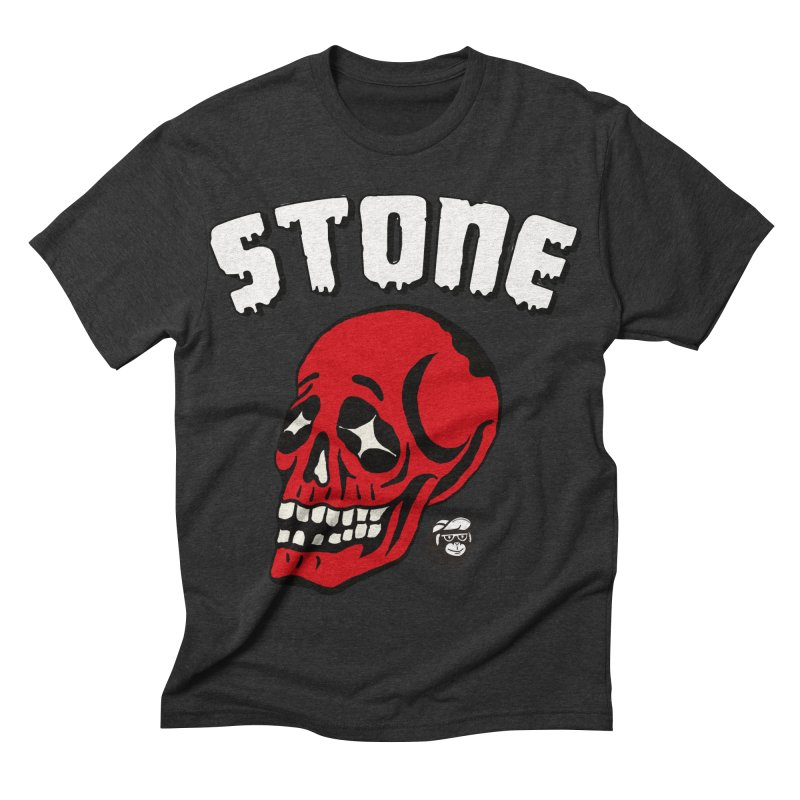 STONE SkULL Men's Triblend T-shirt by Mico Jones Artist Shop