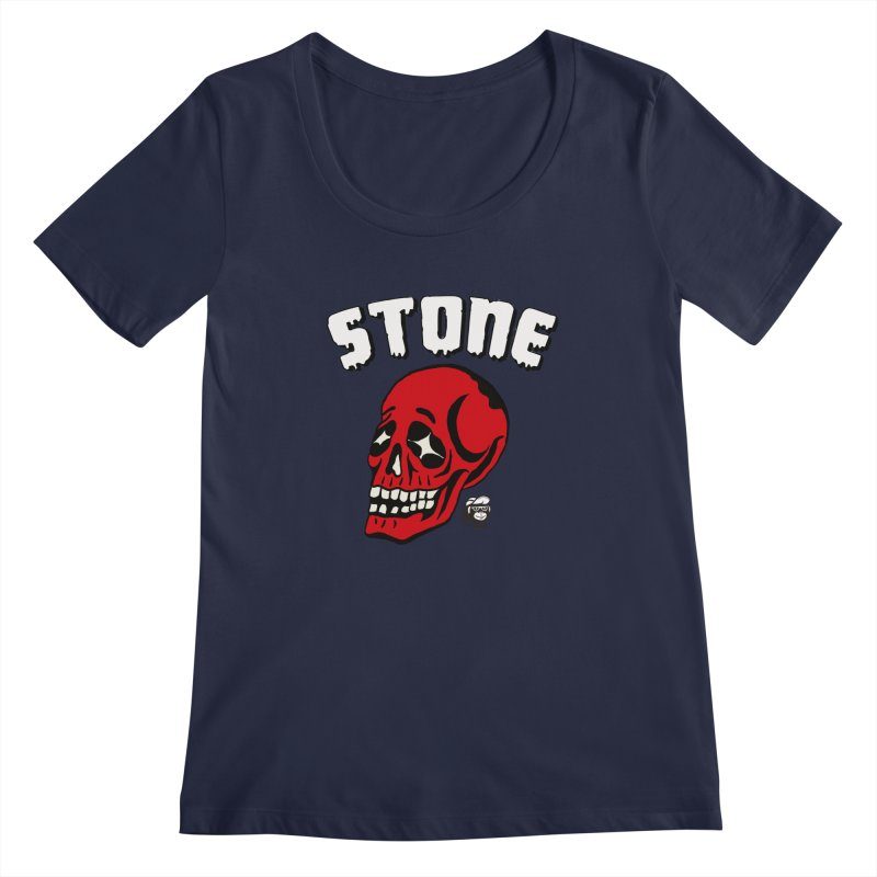 STONE SkULL Women's Scoopneck by Mico Jones Artist Shop