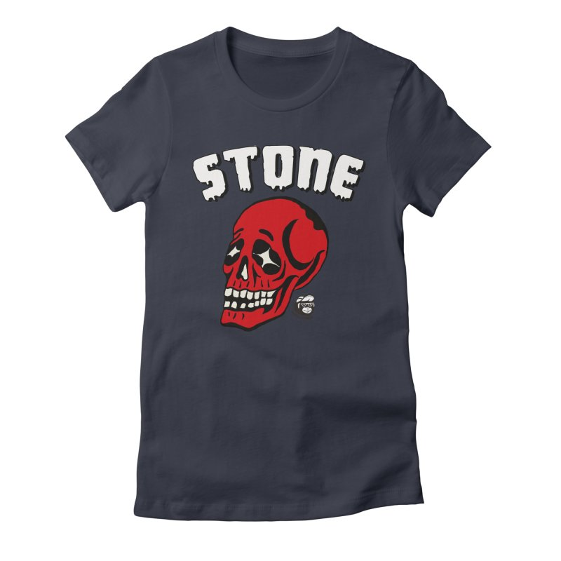 STONE SkULL Women's Fitted T-Shirt by Mico Jones Artist Shop