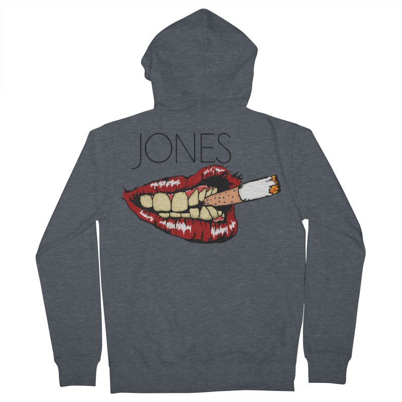 JONES DOPE LIPS Men's Zip-Up Hoody by Mico Jones Artist Shop