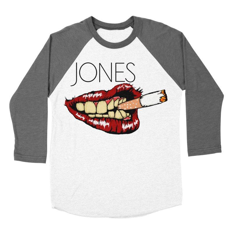 JONES DOPE LIPS Men's Baseball Triblend T-Shirt by Mico Jones Artist Shop