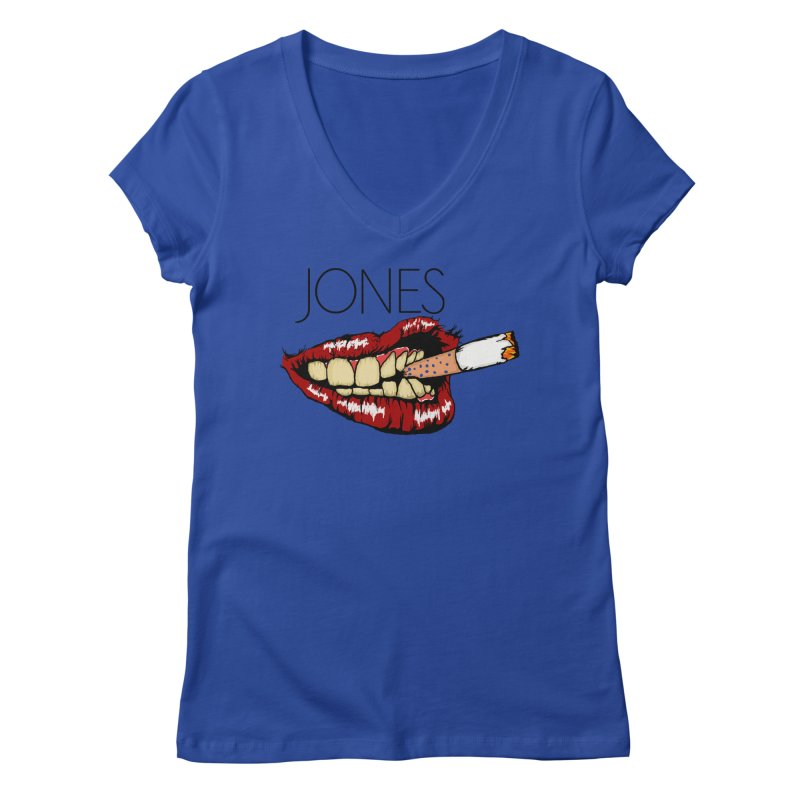 JONES DOPE LIPS Women's V-Neck by Mico Jones Artist Shop